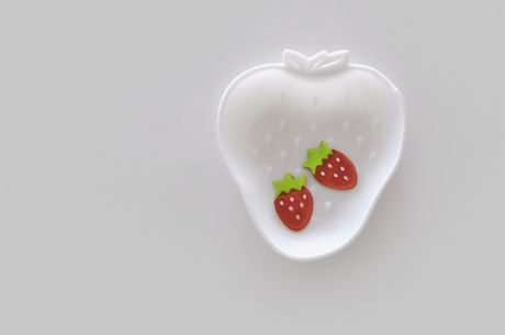 white strawberry milkglass plate copy copy