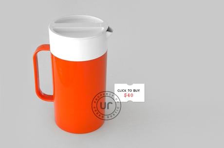 retro orange white Decor jug + PRICE