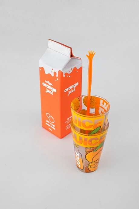 smiggle Orange Juice carton glasses