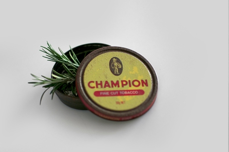 single vintage champion tobacco tin rosemary