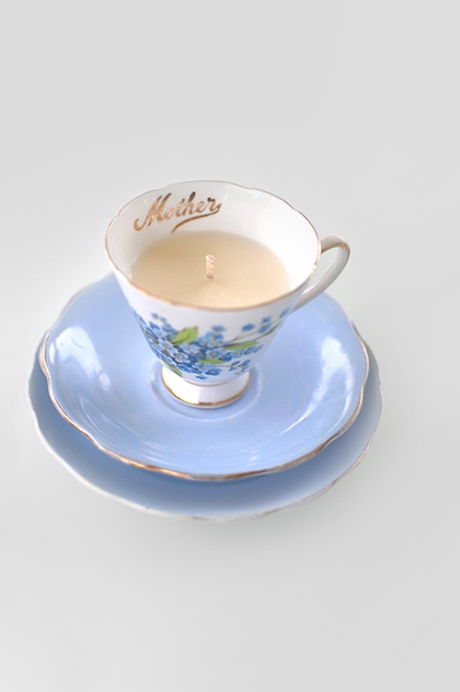 blue MOTHERS DAY CANDLE CUP