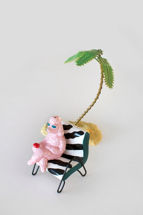 PINK poodle salt and pepper palm tree copy copy
