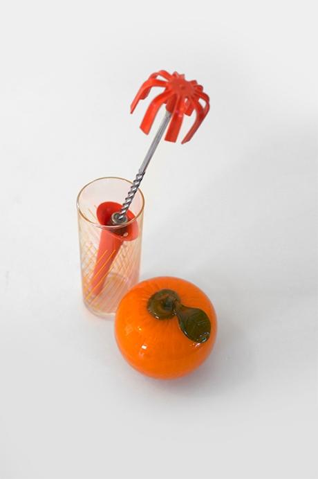 orange retro whisk glass and murano fruit copy