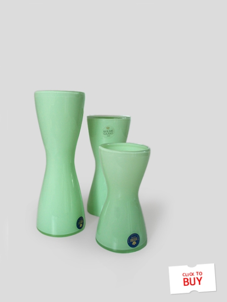 Holmegaard green glass candlestick vases mid century Royal Copenhagen copy 2