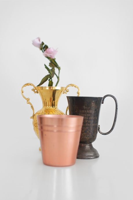 vintage silver trophy aluminium tumblers gold vessel