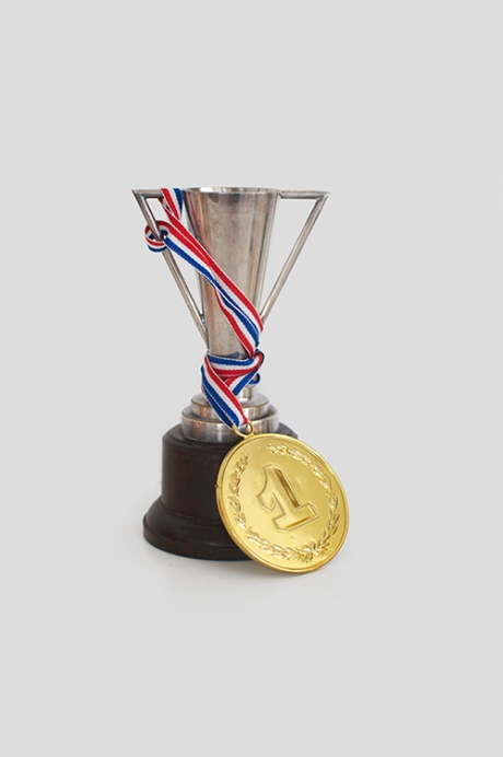silver metal gold medal vintage trophy copy