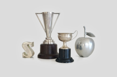 vintage silver cups trophies apple