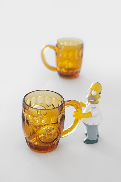 vintage beer glasses royal commemorative homer simpson copy