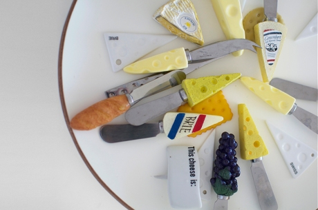 cheese platter of cheese spreaders