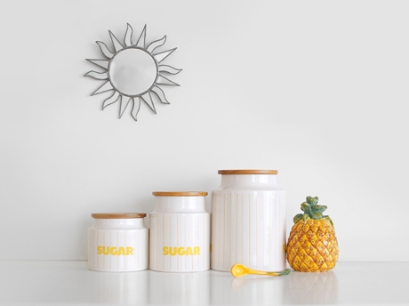 sugar sugar hornea stripe pineapple jam pot