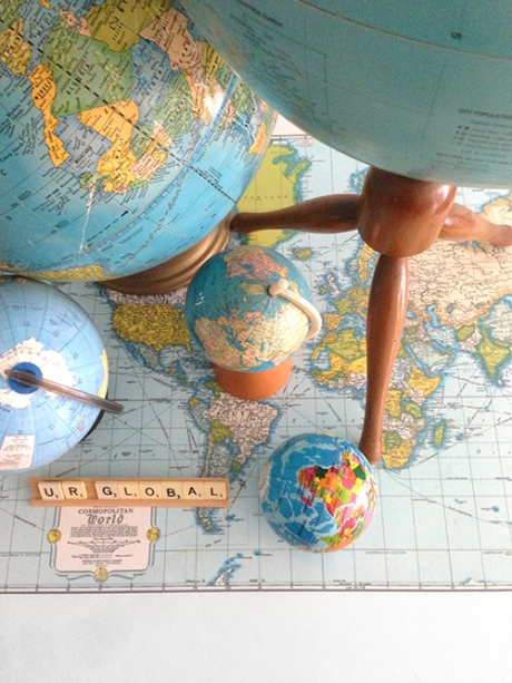 world wide desktop vintage globes mid century