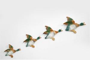 beswick 4 mallard ducks